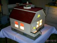 HANDCRAFTED WOOD DOLLHOUSE---MUCH ATTENTION TO