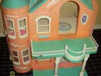 """Doll house, Victorian, large, with elevator and"