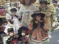 All our wonderful dolls at the Seattle Children?s Kent