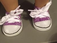 "Tennis shoes for 18"" dolls. These are brand name"