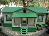Beautiful hand made doll residence. Made in the 1940's.