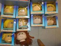 We have 10 cabbage patch doll heads, 9 body fabric.