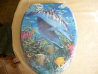 Dolphin toilet seat Brand new, still in wrapping. I am