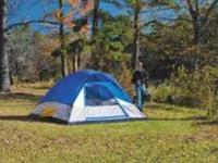•Rectangle dome tent •Sleeps 3 •Fly has