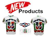DOMINICAN REPUBLIC FLAG T-SHIRT & MATCHING FREE MASK -