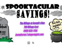 Don't Miss Out on ~Spooktacular Savings~ Free Rent