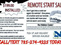 IT'S GETTING COLD!  PROFESSIONAL INSTALLATION OF REMOTE