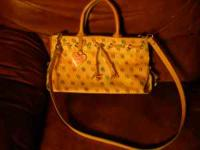 Dooney & Bourke authentic all leather! Double handle,