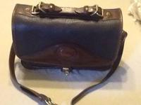 Dooney & Bourke all weather leather handbag; chocolate