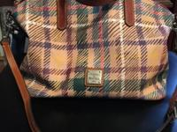 Plaid D&B purse for sale. Used but in great condition.