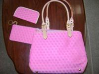 Pink Medium size Brand new Purse with acc/ : glass case