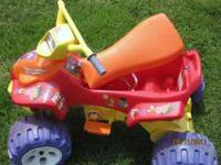 Dora the Explorer battery operated 4-wheeler, inlcludes