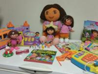 Video game, cash register, 3 dolls, 11 books, miniature