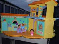 Dora's talking house comes with Dad, Mom, and