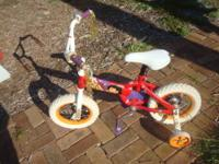Pretty little bike for a little girl learning how to