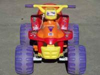 Dora the Explorer ATV by Fisher Price. It includes the