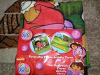 DORA THE EXPLORER~2-in-1 Reversible Activity Throw