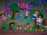 Dora Rug, Dora remote control jeep, puppet, dolls and