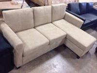 New & & assembled. Beige microfiber furniture. Chaise