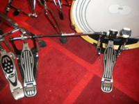 Dixon Double pedal- $50 Sabian 20'in XS20 Rock Ride