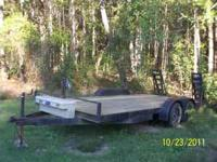 This is a double axle trailor 7 foot wide and 16 and
