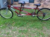 this is a double bike it has only been ridden twice its