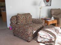 we have for sale a double - size chair with ottoman. It