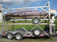 double deck trailer with hydraulic cylinders and 9000