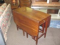 Double gateleg table $140.00.  Old table and in great