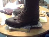 Great boots like new , western lace up packers. Also