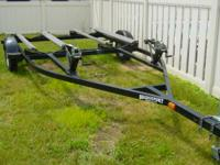 "Like New - sturdy double jet ski trailer. 13"" tires,"