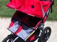 Bob Sport Utility Duallie double jogging stroller.