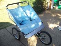 This is a Twinner II Double Jogging Stroller. This is