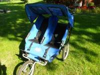 Great gently used double jogging stroller for sale. 2