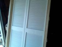 DOUBLE HUNG LOUVERED DOORS VERY NICE BRAND NEW NEVER