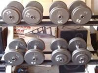 Two Double Racks with Dumbbells         $ 1,500 CASH