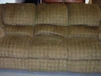 Available is a LANE double recliner couch & reclining