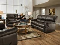 Double Reclining Black Leather Couch For Excellent