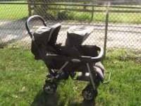 "We have a ""Peg Perego"" in line double seat stroller. We"
