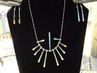 Double sided Turquoise/silver w two sets of matching