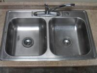 This sale is for a Double Stainless Steel Kitchen Sink.