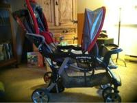 Like new double stroller. Kids are to big. Asking