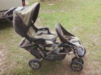 Graco Duo Glider Double Stroller Color: Brown and Tan