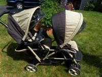 Like New Double Stroller with matching Car Seat & Base.