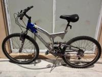 "DOUBLE SUSPENSION ALUMINUM MOUNTAIN BIKE, 26"","