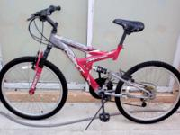 "DOUBLE SUSPENSION MOUNTAIN BIKE, 24"", ""NEXT POWER"