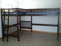 Double Twin bed loft style, clears up entire floor