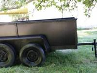 Tandem axle trailer with surge brake, tongue jack,