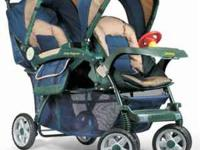Jeep Wagoneer double stroller for sale. Has lots of