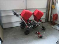 This is a double stroller thats like brand new. I